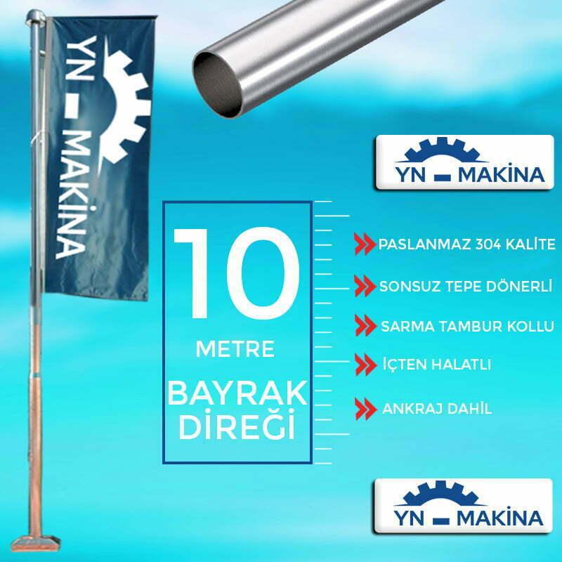 10 Metre Konsollu Bayrak Direği10 Metre Konsollu Bayrak Direği