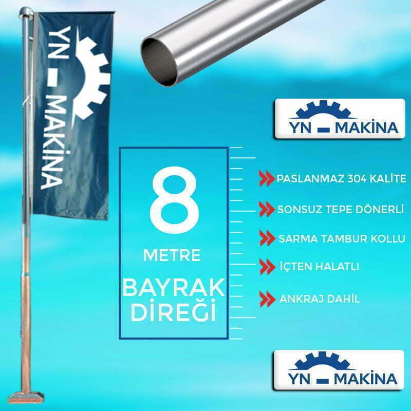 8 Metre Konsollu Bayrak Direği