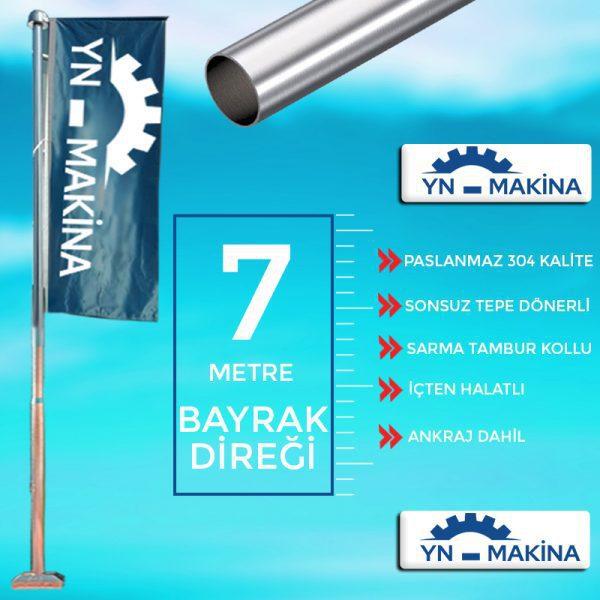 7 Metre Konsollu Bayrak Direği