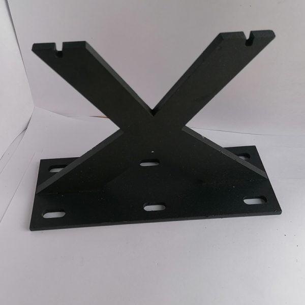 Çapraz Siyah Metal Koltuk Ayağı