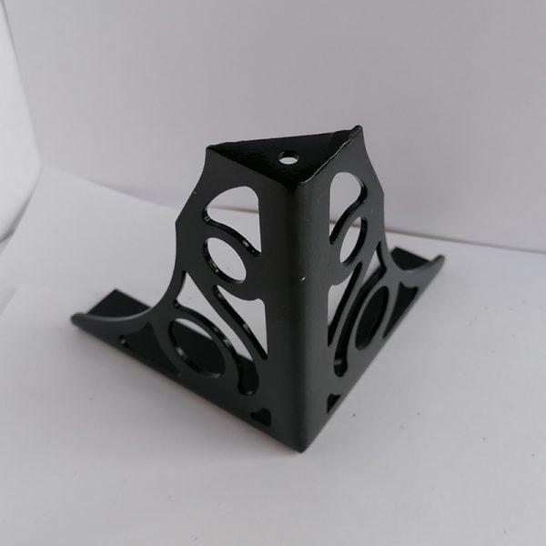Dekorlu Siyah Metal Koltuk Ayağı 2