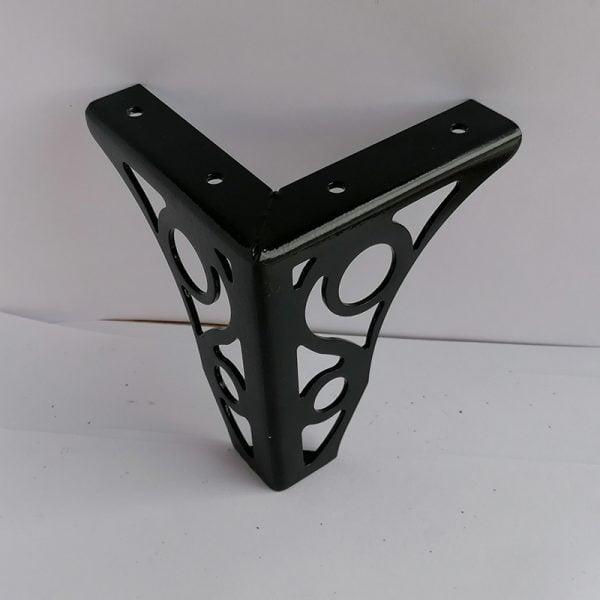 Dekorlu Siyah Metal Koltuk Ayağı